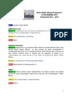 Radio Híbrido programa 3 temporada 2014-2015