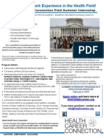 2015 Heath Career Connection Internship Recruitment
