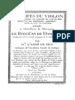Principes Du Violon, Edition Paris 1776