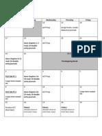 TFA Calendar