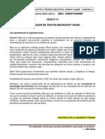 Guía # 13 Procesador de Textos Microsoft Word