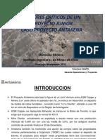 3_Fact Criticos en Proy Minero Junior - Proyecto Antakena -Francisco Calaf