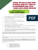 Bases Del Torneo II Open Sub-1600 Nacional