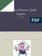 disease poster quilt square
