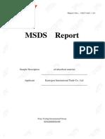 Oil Absorbent MSDS