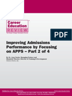 CER Improving Admissions Performance by Focusing on APPS