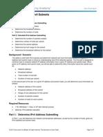 9.1.4.8 Lab - Calculating IPv4 Subnets