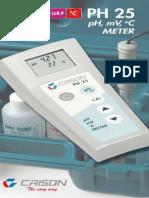 PH_25 pH-meto portatil Crison funciona como termometro