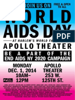 Housing Works World AIDS Day 2014 CoalitionEvent FlyerSaveTheDate, English
