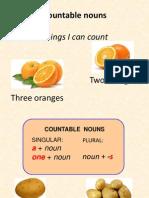 Countable Uncountable Nouns
