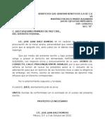 Aclaracion de Domicilio.
