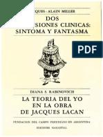 Dos dimensiones clínicas, Sintoma y Fantasma