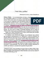 Israel. Ética y Política. Entrevista a Emmanuel Lévinas.