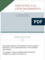 Introduccion a La Modelación Matematica