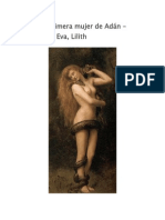 Lilith La Primera Mujer de Adán