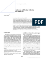 Artículo ''Biosocial Studies of Antisocial and Violent Behavior in Children and Adults - A Review''
