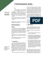 Informe ElectroMioGrafia