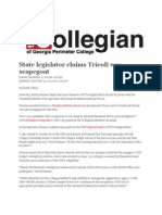 Georgia State Legislator Claims Anthony Tricoli Was Scapegoat for University System's Inefficiencies