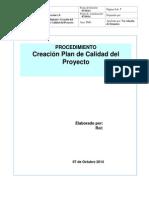 Procedimiento Plan de Calidad Del Proyecto