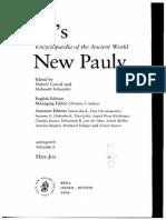 Hose. Martin 2002 - New Pauly - Historia