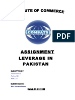 Leverage in pakistan