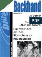 Backhand 2003/2004 Nr. 1