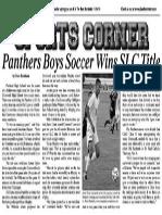 Panthers Boys Soccer Wins SLC Title