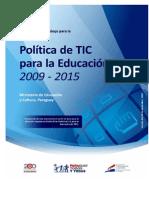 Documento para el desarrollo de Política TIC Septiembre de 2010