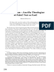 Relativism—Ancilla Theologiae et Fidei? Not so Fast!
