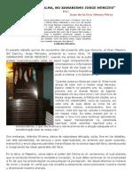 """(1) """"A FORÇA DA CALMA, NO XAMANISMO DE JORGE MENEZES"""""""