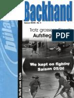 Backhand 2005/2006 Nr. 3