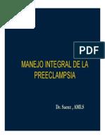 Manejo Integral de La Preeclampsia
