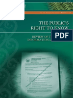 The Publics Right to Know Nzlc r125 2012
