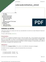 Initiation au XHTML