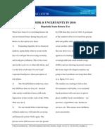 Volume 1 14 Risk Uncertainty in 2010 Dec 21 2009