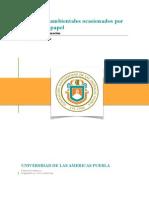 Documento Académico Problemas Ambientales ocasionados por mal uso de papel