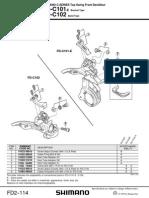 Shimano EV-FD-C101-E, C102 Altus Top Swing Front Derailleur