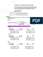 Composición Porcentual o Determinación de Porcentajes