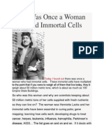 There Was Once a Woman Who Had Immortal Cells