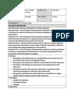 professional development unit lesson plan