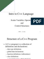Intro to C++ Language