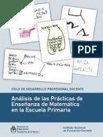 Analisis de Las Practicas de Ensenianza de Matematica en La Escuela Primaria Modificaciones