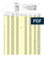 Format of Loan Amortization Schedule(1)