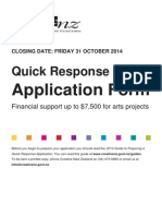 quick response application form