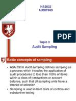 Topic 9 Audit Sampling