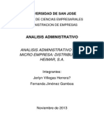Analisis Administrativo Distribuidora Heimar