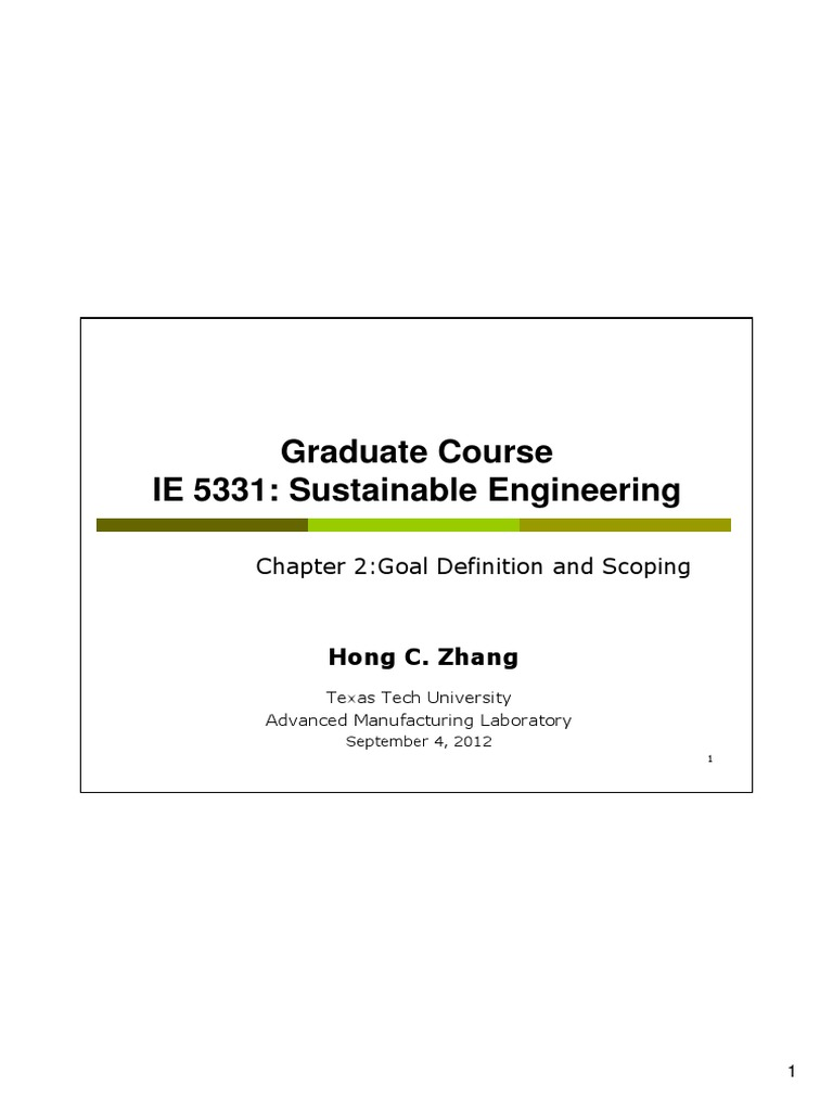 Chapter 2 - Goal and Scope Definition | Goal | Waste