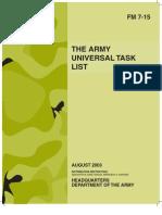 Army - fm7 15 - The Army Universal Task List