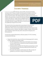 executive summary website one