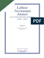 LAS REVISTAS LITERARIAS ARGENTINAS 1893 1967 Hector Lafleur Sergio Provenzano Fernando Alonso